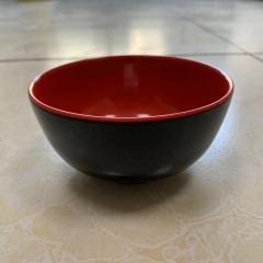 """密胺黑红碗 4.5"""""""