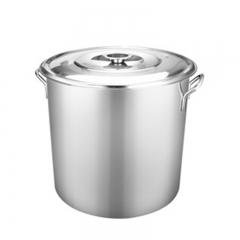 304不锈钢桶(带盖)45cm