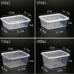 一次性餐盒塑料外卖打包加厚透明饭盒