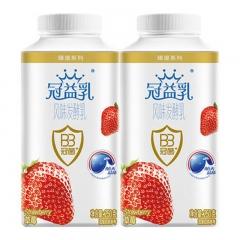蒙牛冠益乳草莓果粒酸牛奶