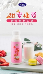 """完达山牌、""""盐芝爆表/甜蜜柚惑""""风味酸牛奶、瓶装、260g/瓶"""