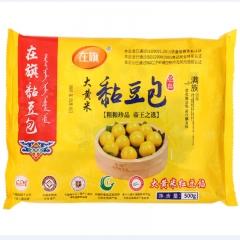 青龍滿族自治縣在旗經典大黃米粘豆包紅豆餡500g*18袋/箱