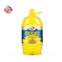 红井源 葵花籽油5L 物理压榨 煎炒烹炸 家庭健康食用油